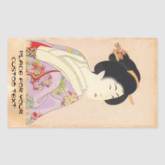 Chikanobu Yoshu True Beauties Unknown Title Rectangular Sticker