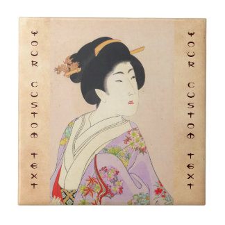 Chikanobu Yoshu True Beauties Unknown Title Small Square Tile