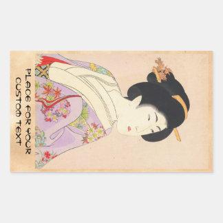 Chikanobu Yoshu True Beauties Unknown Title Rectangle Stickers