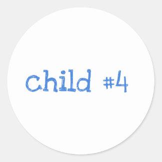 Child #4 round sticker