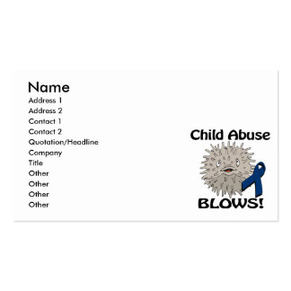 Child Abuse Blows Awareness Design Pack Of Standard Business Cards