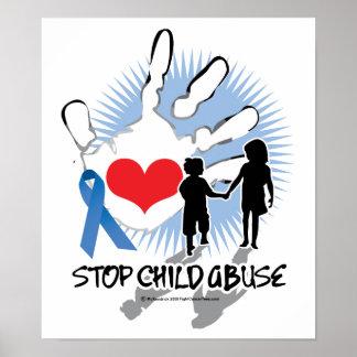 Child Abuse Handprint Poster