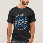 Child Abuse Prevention Butterfly Tribal T-Shirt