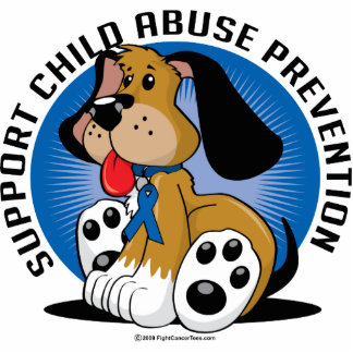 Child Abuse Prevention Dog Photo Cut Out