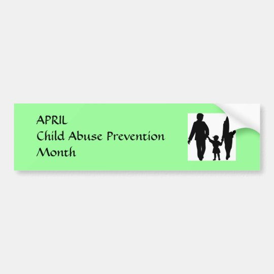 Child Abuse Prevention Month Bumper Sticker