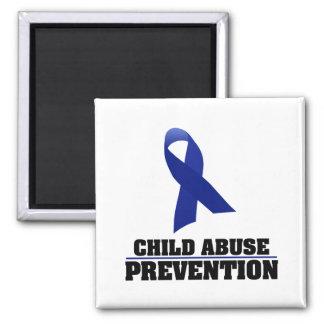Child Abuse Prevention Square Magnet