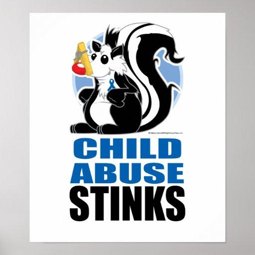 Child Abuse Stinks Poster