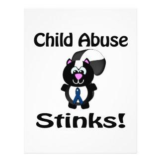 Child Abuse Stinks Skunk Awareness Design Flyers