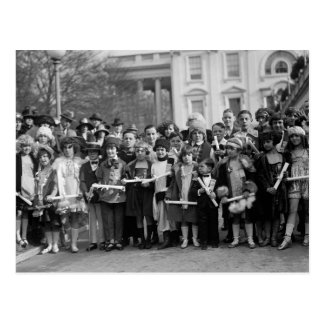 Child Actors at White House: 1923 Postcard