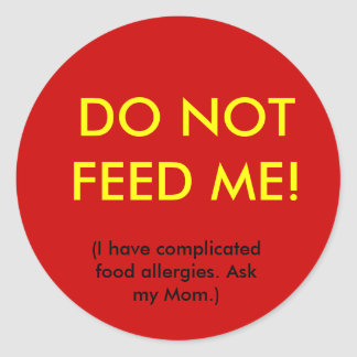Child Allergy Safety Sticker