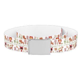 Child and Animals Pattern Belt