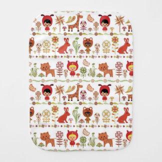 Child and Animals Pattern Burp Cloth