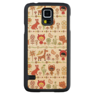 Child and Animals Pattern Carved® Maple Galaxy S5 Case