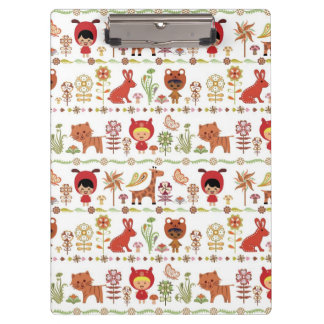Child and Animals Pattern Clipboard