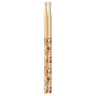 Child and Animals Pattern Drumsticks
