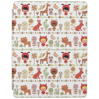 Child and Animals Pattern iPad Cover