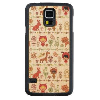 Child and Animals Pattern Maple Galaxy S5 Slim Case