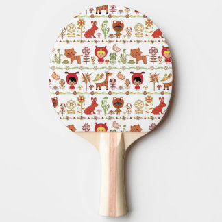 Child and Animals Pattern Ping Pong Paddle