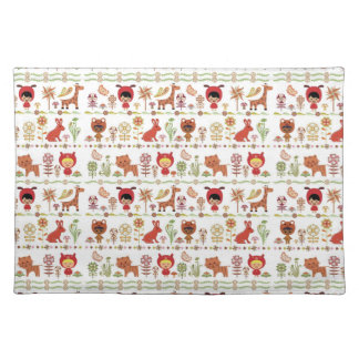 Child and Animals Pattern Placemat