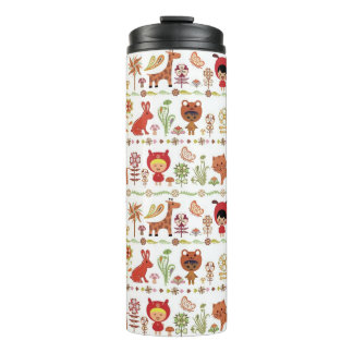 Child and Animals Pattern Thermal Tumbler