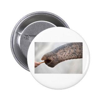 child and elephant 6 cm round badge