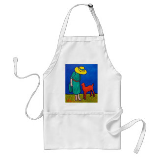 Child and Lamb by Piliero Adult Apron