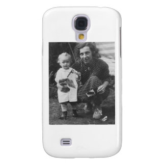 Child and Mother Kneeling with camera Galaxy S4 Case