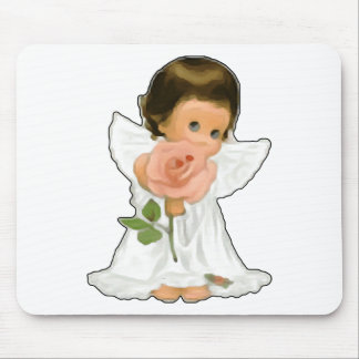 Child Angel with Rose Mouse Pad