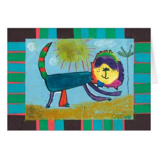 Child art -- Caddie Creations -- Lion Greeting Card