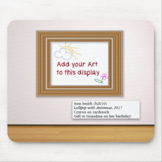 Child Artwork Art Gallery Frame Display Mouse Mat