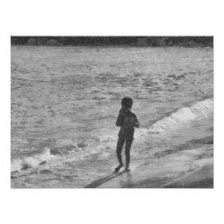 Child at beach photo art