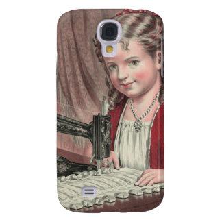 Child at sewing machine - 1872 (1) galaxy s4 case