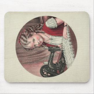 Child at Sewing Machine Mousepad