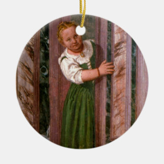 Child at the Door, from the Sala a Crociera, c.156 Christmas Ornament