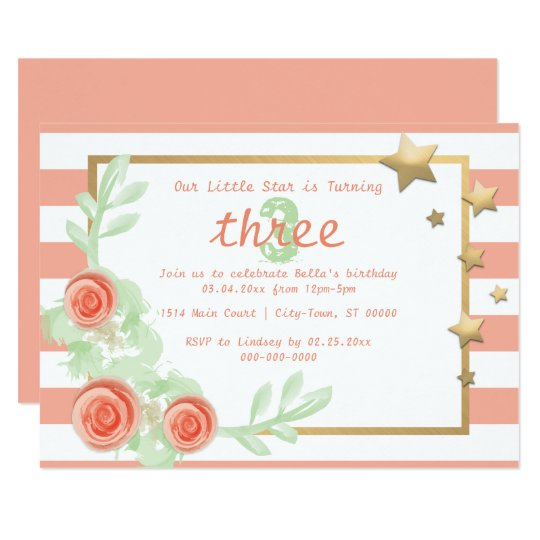 Child / Baby Birthday Party Invite - Twinkle Star