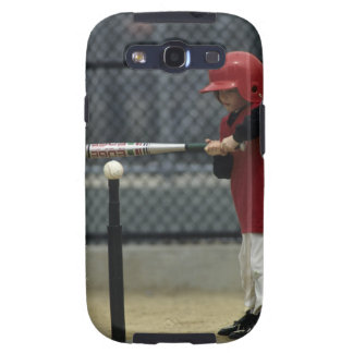 Child batting a tee ball galaxy SIII cases