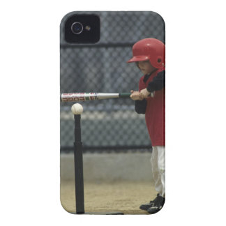 Child batting a tee ball iPhone 4 cover