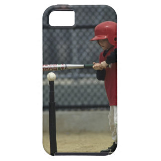 Child batting a tee ball iPhone 5 cases