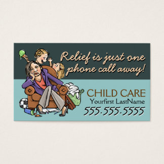 Child Care.Babysitting.Custom text/color Business Card