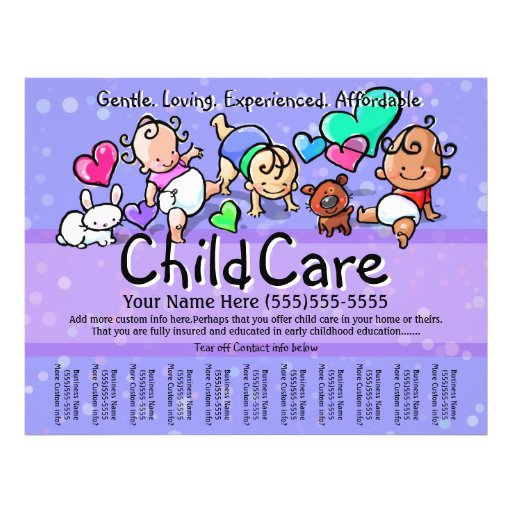 Child Care.Babysitting.Day Care.Custom text/color Flyers