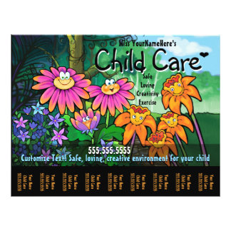 Child Care Day Care Babysitting Magical Garden 21.5 Cm X 28 Cm Flyer