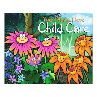 Child Care Day Care Babysitting Magical Garden 4x5 11.5 Cm X 14 Cm Flyer