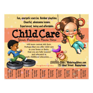 Child Care. Day Care. Customizable template 21.5 Cm X 28 Cm Flyer