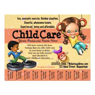 Child Care. Day Care. Customizable template 21.5 Cm X 28 Cm Flyer
