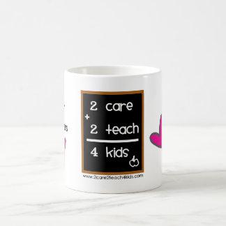 Child Care Providers ♥ 2care2teach4kids logo mug