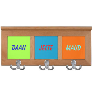 Child coat rack with names