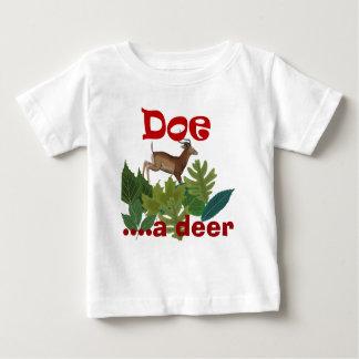 Child doe a deer baby T-Shirt
