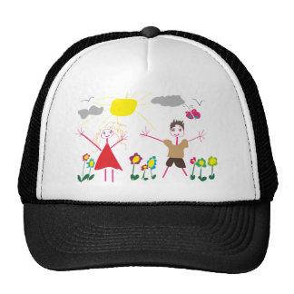 Child draw mesh hat