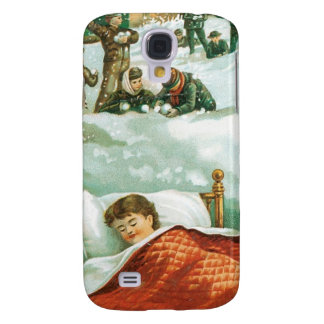 Child Dreaming about Christmas Galaxy S4 Case