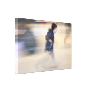 Child escaping from LB's Spider Beaubourg Canvas Stretched Canvas Print